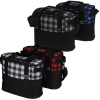 View Extra Image 1 of 4 of Buffalo Plaid Cooler Bag - Embroidered