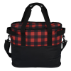 View Extra Image 2 of 4 of Buffalo Plaid Cooler Bag - Embroidered
