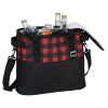 View Extra Image 3 of 4 of Buffalo Plaid Cooler Bag - Embroidered
