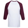 View Extra Image 1 of 2 of Gildan Heavy Cotton 3/4 Sleeve Raglan T-Shirt - Screen