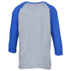 View Extra Image 1 of 2 of Gildan Heavy Cotton 3/4 Sleeve Raglan T-Shirt - Youth - Screen