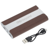 View Extra Image 3 of 6 of Wood Grain Light-Up Logo Power Bank - 6000 mAh