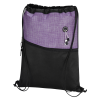 View Extra Image 1 of 3 of Carver Zip Pocket Drawstring Sportpack - 24 hr