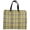 View Extra Image 1 of 1 of Laminated Non-Woven Plaid Tote