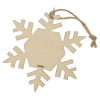 View Extra Image 1 of 1 of Wood Ornament - Snowflake - 24 hr