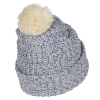 View Extra Image 1 of 2 of Pom Pom Beanie with Cuff - Embroidered