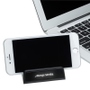 View Image 2 of 6 of Stellar Light-Up Logo Phone Stand with USB Hub