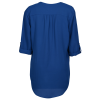 View Extra Image 1 of 2 of Poly Crepe 3/4 Sleeve Tunic - Ladies'