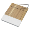 View Image 2 of 2 of Marble and Acacia Wood Cheese Cutting Board