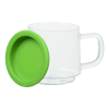 View Extra Image 1 of 3 of Glass Mug with Silicone Bottom - 12 oz.