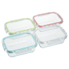 View Extra Image 2 of 2 of Glass Food Storage with Lid - Square - 24 hr