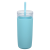 View Extra Image 1 of 3 of Bermuda Silicone Tumbler with Straw and Brush - 32 oz.
