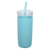 View Extra Image 2 of 3 of Bermuda Silicone Tumbler with Straw and Brush - 32 oz.