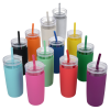 View Extra Image 3 of 3 of Bermuda Silicone Tumbler with Straw and Brush - 32 oz.