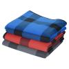 View Extra Image 3 of 4 of Buffalo Plaid Fleece Picnic Blanket