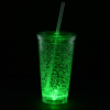View Extra Image 2 of 7 of Cracked Ice Light-Up Tumbler with Straw - 16 oz. - 24 hr