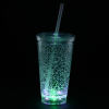 View Extra Image 3 of 7 of Cracked Ice Light-Up Tumbler with Straw - 16 oz. - 24 hr