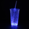 View Extra Image 4 of 7 of Cracked Ice Light-Up Tumbler with Straw - 16 oz. - 24 hr