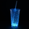 View Extra Image 5 of 7 of Cracked Ice Light-Up Tumbler with Straw - 16 oz. - 24 hr