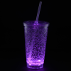 View Extra Image 6 of 7 of Cracked Ice Light-Up Tumbler with Straw - 16 oz. - 24 hr