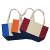 View Extra Image 1 of 1 of Colorblock Cotton Boat Tote