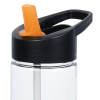 View Image 2 of 3 of Clear Impact Twist Water Bottle with Two-Tone Flip Straw Lid - 24 oz.