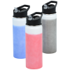 View Image 4 of 5 of Mood Stainless Bottle with Flip Straw Lid - 26 oz.