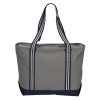 View Image 3 of 3 of Atlantic 20 oz. Cotton Zippered Boat Tote - Embroidered