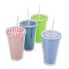 View Extra Image 1 of 1 of Mood Victory Acrylic Tumbler with Straw - 16 oz.