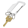 View Image 2 of 3 of Flat Carabiner Triple Keychain