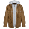 View Extra Image 1 of 4 of Dickies Hooded Duck Quilted Shirt Jacket