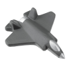 View Extra Image 1 of 3 of Fighter Jet Stress Reliever - 24 hr