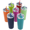 View Extra Image 1 of 3 of Colma Vacuum Tumbler with Straw - 22 oz. - Colors