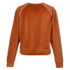 View Extra Image 1 of 2 of US Blanks Plush Velour Crop Sweatshirt - Ladies'