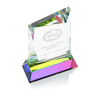 """View Image 2 of 3 of Achievement Crystal Award - 5"""" - 24 hr"""
