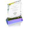 View Extra Image 1 of 2 of Achievement Crystal Award - 7 inches - 24 hr