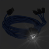 View Extra Image 1 of 5 of Rolly 10' Light-Up Logo Duo Charging Cable - 24 hr
