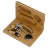View Extra Image 2 of 2 of 4 pc Bamboo Wine Gift Set - 24 hr