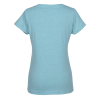 View Extra Image 1 of 2 of LAT Harborside Melange V-Neck T-Shirt - Ladies'