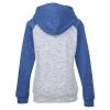 View Extra Image 1 of 2 of J. America Melange Colorblock Full-Zip Sweatshirt - Ladies'