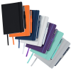 View Extra Image 1 of 3 of Vienna Satin Touch Soft Cover Notebook with Pen - Debossed