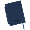 View Extra Image 3 of 3 of Vienna Satin Touch Soft Cover Notebook with Pen - Debossed