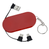 View Extra Image 1 of 6 of Hideaway Duo Charging Cable Keychain