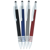 View Extra Image 2 of 2 of Bristol Soft Touch Stylus Gel Metal Pen