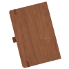 View Extra Image 1 of 3 of Soft Touch Wood Grain Notebook - Debossed