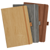 View Extra Image 3 of 3 of Soft Touch Wood Grain Notebook - Debossed