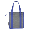 View Extra Image 1 of 3 of Heathered Insulated Grocery Tote - 24 hr