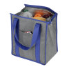 View Extra Image 2 of 3 of Heathered Insulated Grocery Tote - 24 hr