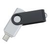 View Extra Image 1 of 4 of Swivel USB-C Drive - Black - 16GB
