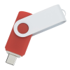 View Extra Image 1 of 4 of Swivel USB-C Drive - White - 32GB